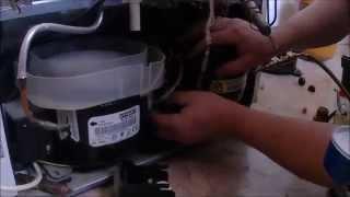 Ремонт холодильника, замена компрессора холодильника / Refrigerator repair