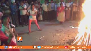 People Grandly Celebrate Bhogi on First Day of Sankranthi | Pongal Celebrations in Guntur | iNews - INEWS
