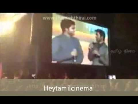 Simbhu Singing Kolaveri Song With Dhanush & Dancing Together!