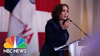 Kamala Harris Makes First Iowa Impressions While Stumping For Democrats | NBC News - NBCNEWS