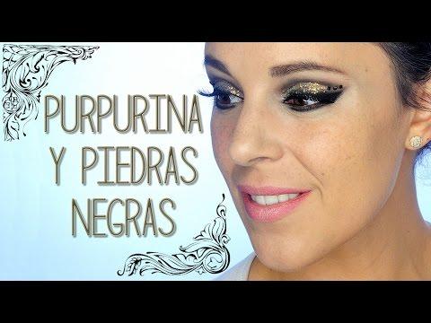 Tutorial Maquillaje Navidad purpurina y piedras | Silvia Quiros