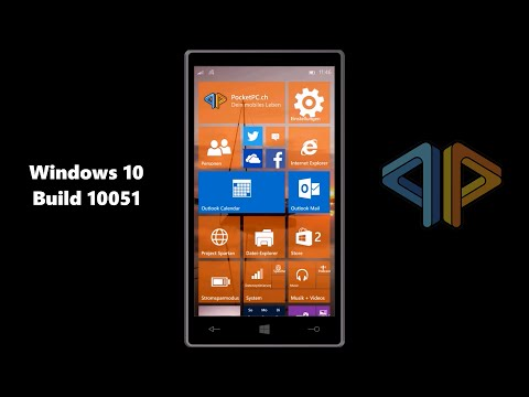 Windows 10 für Phones Build 10051 HandsOn - deutsch
