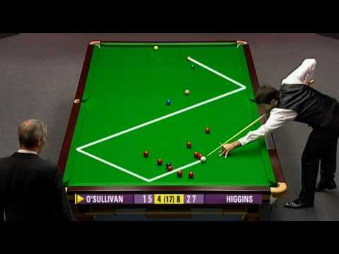 UK Championship 2009 Day 8. OSullivan — Higgins. Frame 13 weird situation