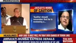 #NDAWarnsCAG: Arun Jaitley was addressing CAG officers - NEWSXLIVE