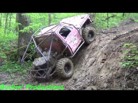 RUSTY'S PINK CHEVY ON CREEK BANK @ MUD MADNESS MOTORSPORTS
