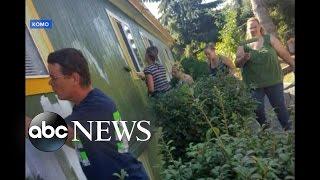 Community Paints Over Racial Slurs Before Family Returns Home - ABCNEWS