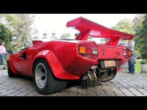 Lamborghini Countach 5000 QV w/ Kreissieg exhaust !! 1080p HD