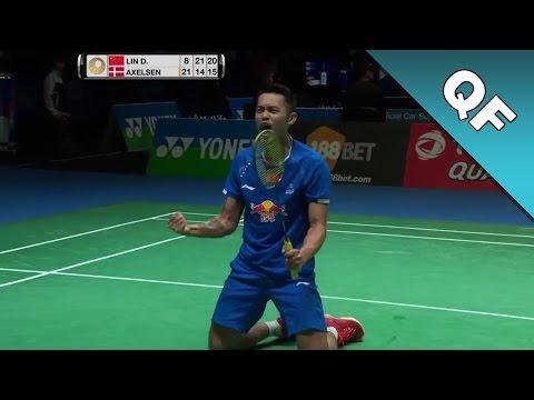 Yonex All England Open 2017 | Badminton QF | Lin Dan vs Viktor Axelsen HD]