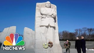 President Donald Trump Lays Wreath At MLK Memorial Statue | NBC News - NBCNEWS