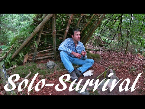 Overnight In The Wilderness - Solo Survival With A Knife