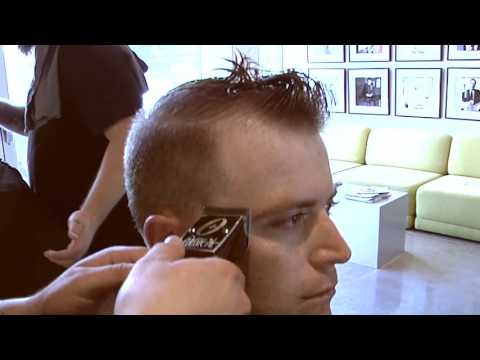 Fade Haircut With a Hard Part: Hairstyle Like a Soccer Player
