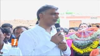 Minister Harish Rao Padayatra In Pragnapur | Lay Foundation Stone For Development Works | iNews - INEWS