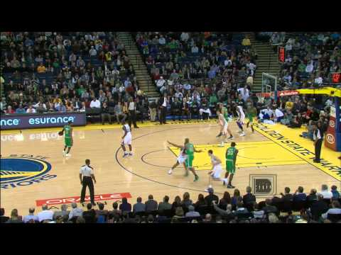 Rajon Rondo spin move and behind the back pass to Ray for 3!