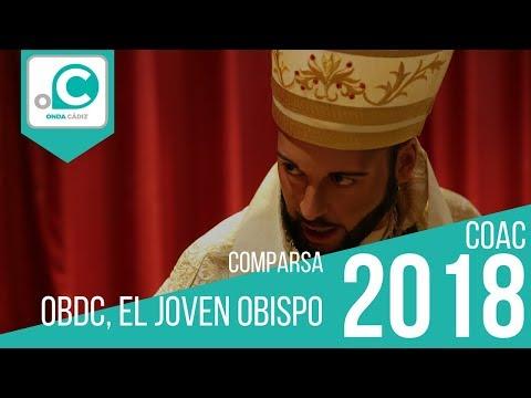 Sesión de Cuartos de final, la agrupación OBDC. El joven obispo actúa hoy en la modalidad de Comparsas.