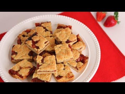 Strawberry Bars Recipe - Laura Vitale - Laura in the Kitchen Episode 533