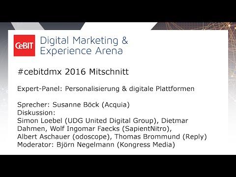 "#cebitdmx: Expert-Panel ""Personalisierung & digitale Plattformen"""
