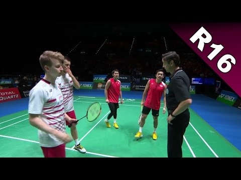 Yonex All England Open 2017 | Badminton R16 | Kam/Son vs Ast/Ras [HD]