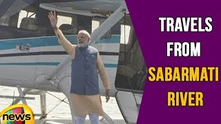 PM Modi Travels From Sabarmati River in Ahmedabad to Dharoi Dam via Sea Plane | Mango News - MANGONEWS