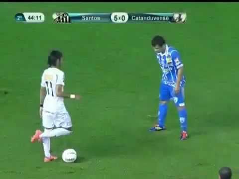 Neymar New Insane Trick Dribble Crazy Skills Drible Santos 5-0 Catanduvense 15 04 2012 -te4xaUK94MQ