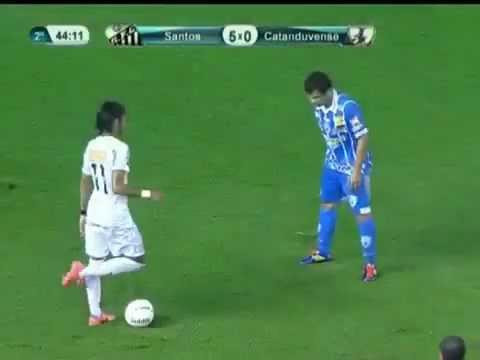 Neymar New Insane Trick Dribble Crazy Skills Drible Santos 5-0 Catanduvense 15 04 2012 -te4xaUK94MQ