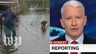 Anderson Cooper says idea of him dramatizing hurricane is 'frankly idiotic' - WASHINGTONPOST