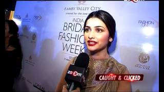 Aditi Rao Hydari & Prachi Desai at India Bridal Fashion Week