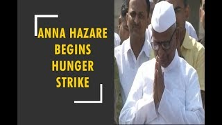 Anna Hazare sits on indefinite hunger strike in Delhi's Ramlila Maidan - ZEENEWS
