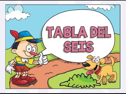 Tablas de Multiplicar cantadas - tabla del seis (6)