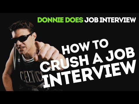 DONNIE DOES | Job Interview