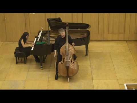 Hindemith: Sonata for d-bass and piano, 1st and 2nd movement,  played by Rinat Ibragimov