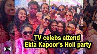 TV celebs attend  Ekta Kapoor's Holi party - IANSLIVE