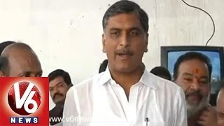 TDP Leaders Playing High Drama - TRS Harish Rao - V6NEWSTELUGU