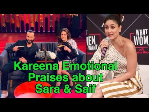 Kareena Emotionally Praises Saif & Sara as Beauty & Brains Combination