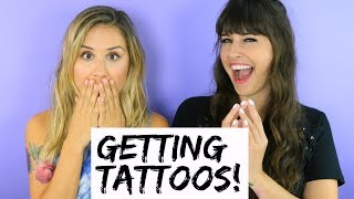 We Got Tattoos! (TRY THE TREND) - HOLLYWIRETV