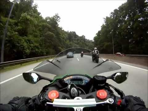 Kawasaki zx10r sunday karak riders + crash