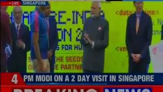 PM Narendra Modi on a 2-day visit in Singapore; lays out 'digital finance' vision - NEWSXLIVE