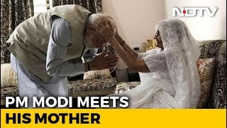 """Will Vote In A While"", Says PM, Seeks Blessings From His Mother - NDTV"