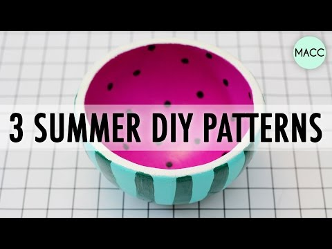 3 Easy Summer DIY Patterns // Thrift Store Art Challenge with Sea Lemon