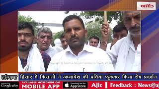 video : हिसार में किसानों ने अध्यादेश की प्रतिया फूंककर किया रोष प्रदर्शन