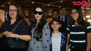 Karisma Kapoor Returns To Mumbai With Kids After Vacation In Europe - ZOOMDEKHO
