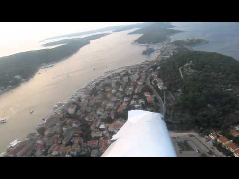 Overflight Mali Losinj in Croatia