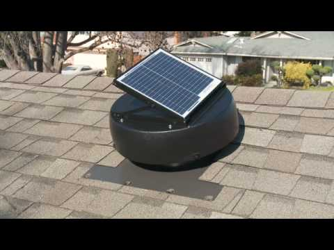Solar Powered Attic Fan - Attic Ventilation Fan