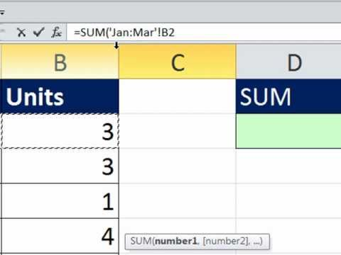 Excel Magic Trick 780: 3-D Cell References For SUMIF Function - Adding with Criteria Across Sheets