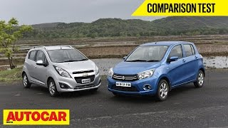 Chevrolet Beat Diesel  vs Maruti Celerio Diesel | Comparison Test | Autocar India