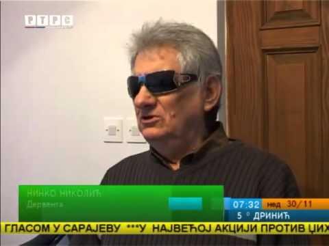 Ninko Nikolić, slijepi fizioterapeut iz Dervente, Jutarnji programa RTRS