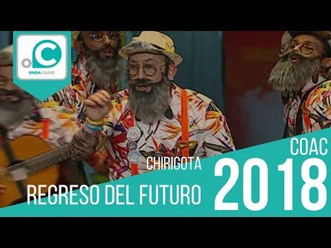 Sesión de Preliminares, la agrupación Regreso del futuro actúa hoy en la modalidad de Chirigotas.