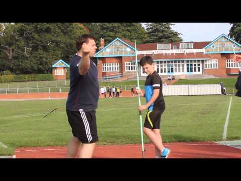 Javelin Throw Workshop @ Loughborough Uni 11th October 2015 part1of2