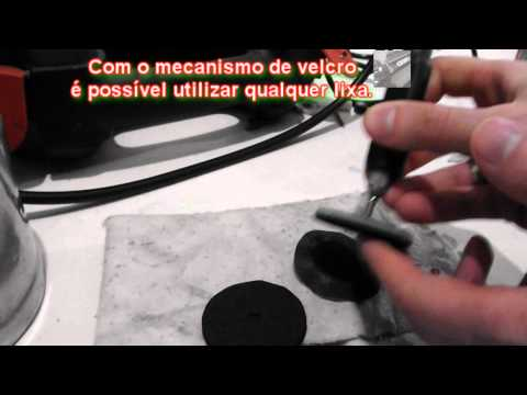 Acessórios para Micro Retífica Lixar e Polir Metais Lixa com Velcro Disco Jeans