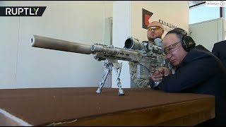 Putin gets up-close and personal with new Kalashnikov sniper rifle - RUSSIATODAY