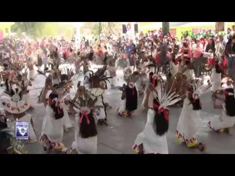 Primera demostración de danzas prehispánicas y autóctonas en Ajacuba.